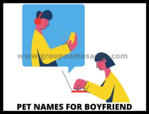 List of pet names for boyfriend